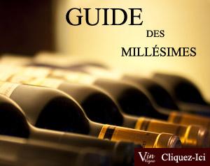 Tableau millesime vin france