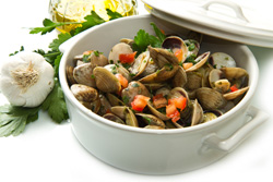 Coquillage marinière - Coquillage en sauce: accords Mets et Vins