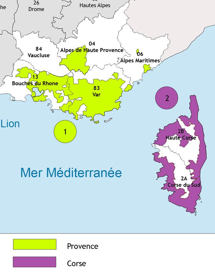 region vin provence Corse