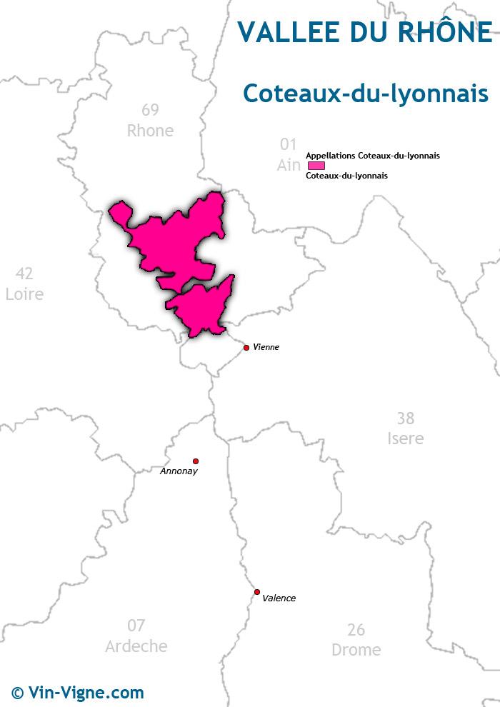carte des vins des côteaux du lyonnais