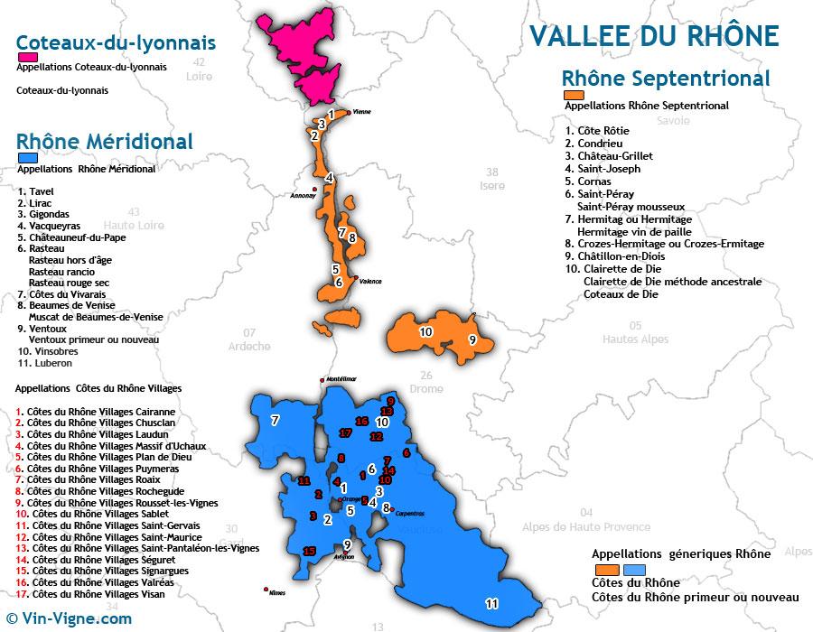 carte des vins rhone