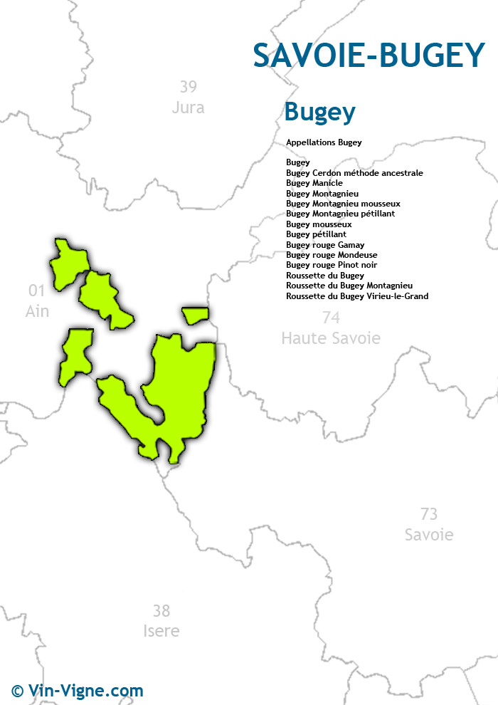 carte des vins du bugey