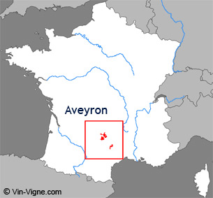 Carte de la rgion viticole l'Aveyron