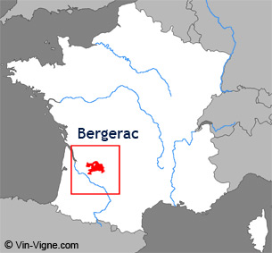 Carte de la rgion viticole du Bergerac