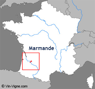 Carte de la région viticole de Marmande