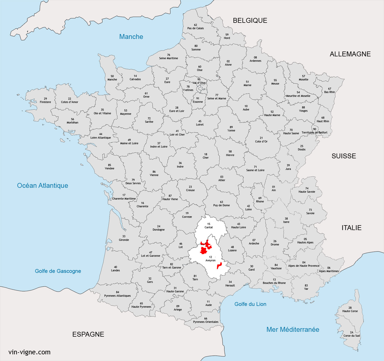 Localisation De La Region Viticole LAveyron