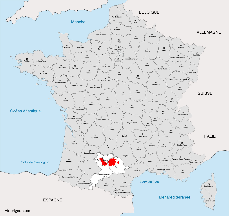 toulouse carte region - Image