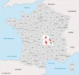 carte vin region auvergne