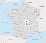 carte vin region auvergne