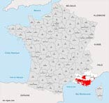 carte vin region provence